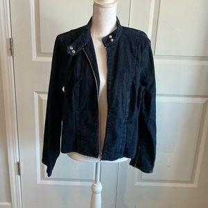 CHAPS DENIM Jean Jacket Coat XL